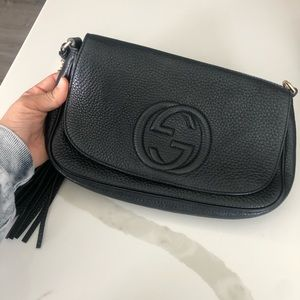 Gucci Soho Chain Black Leather Cross Body Bag